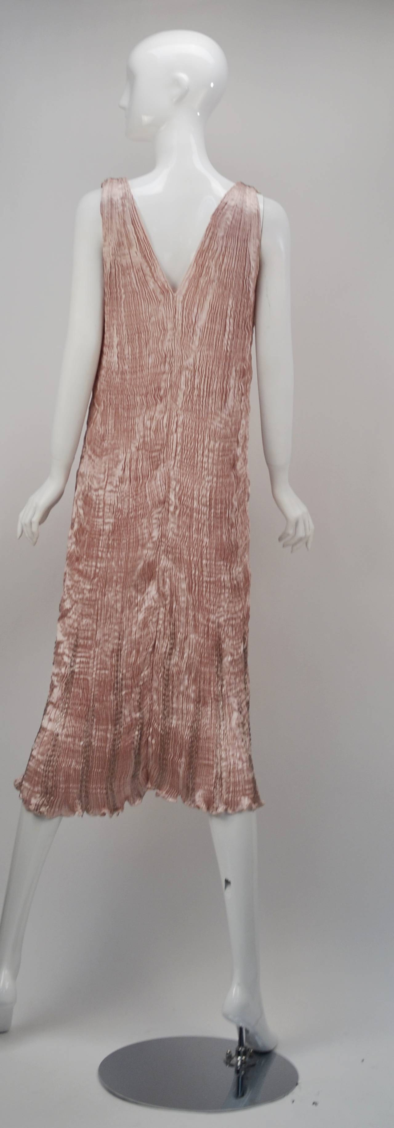 Women's 1980s Patricia Lester Pink Champagne Silk Ensemble For Sale