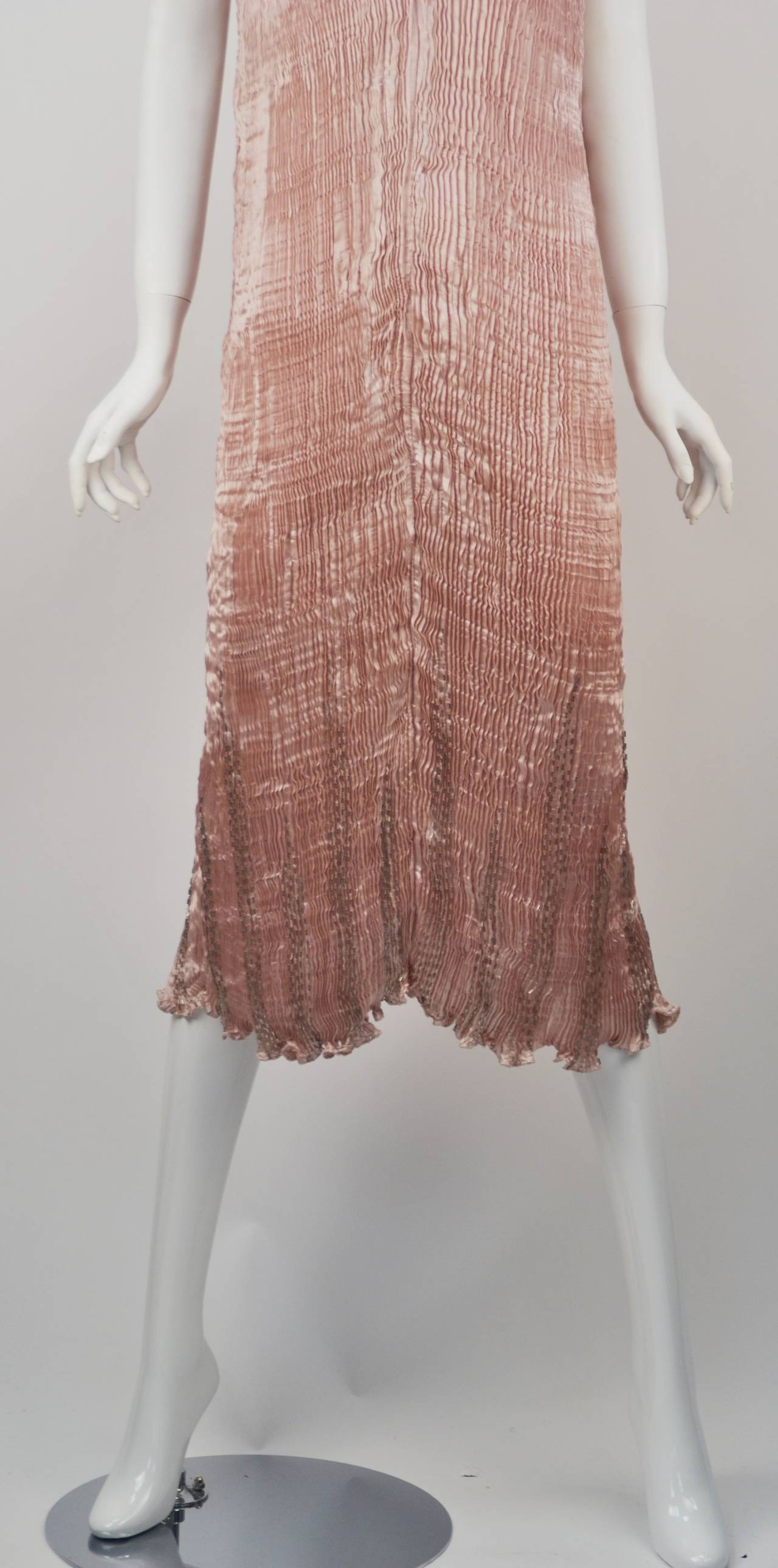 1980s Patricia Lester Pink Champagne Silk Ensemble For Sale 1