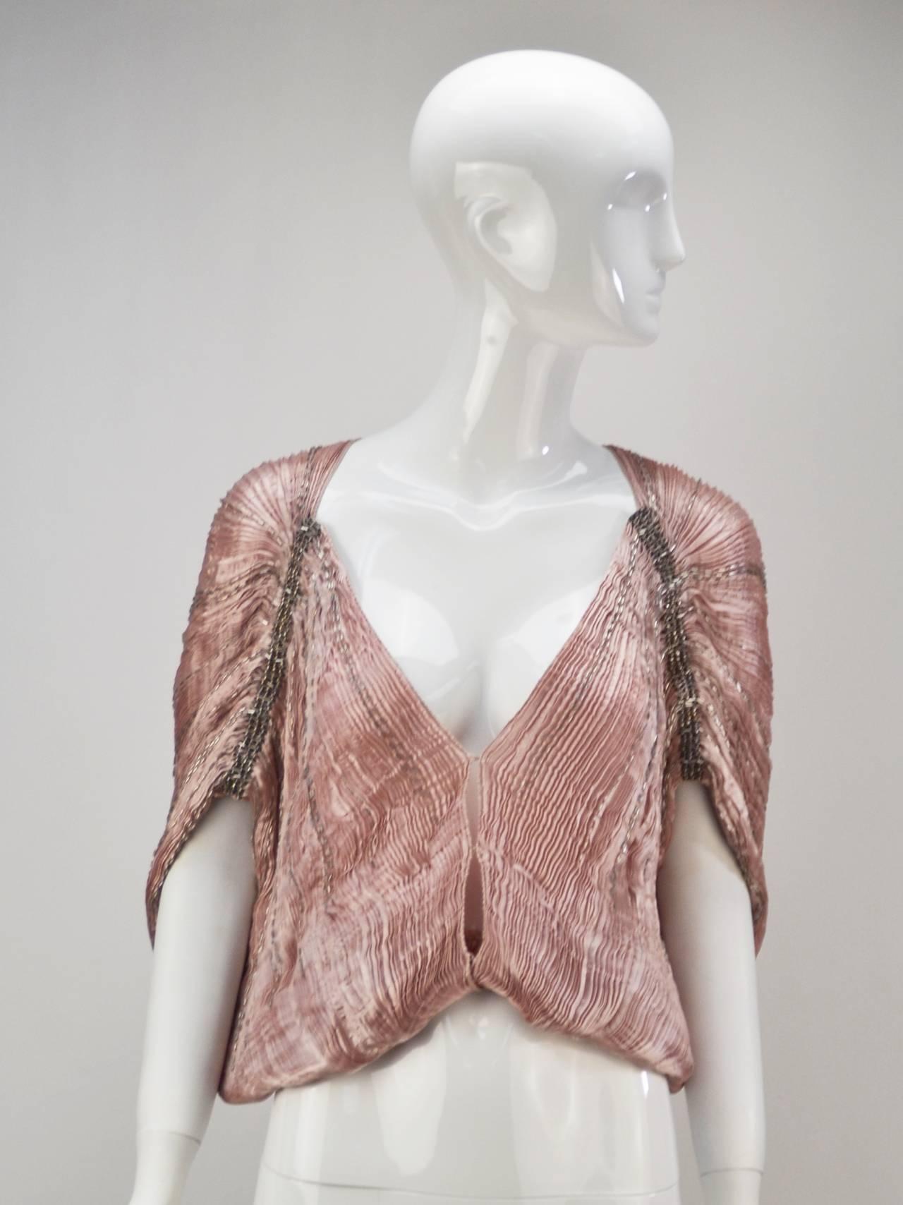1980s Patricia Lester Pink Champagne Silk Ensemble For Sale 4