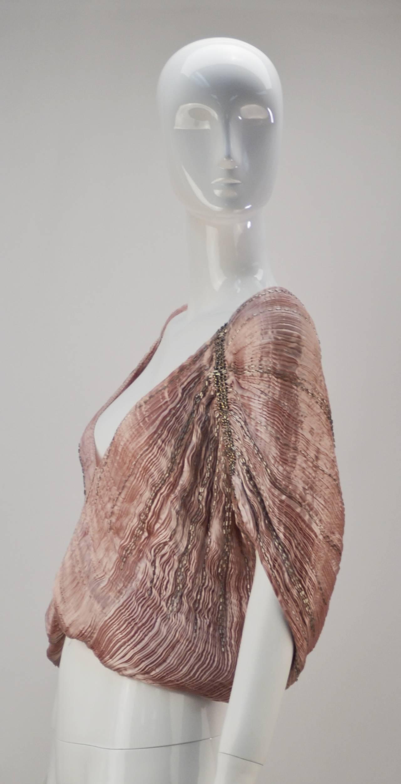 1980s Patricia Lester Pink Champagne Silk Ensemble For Sale 2