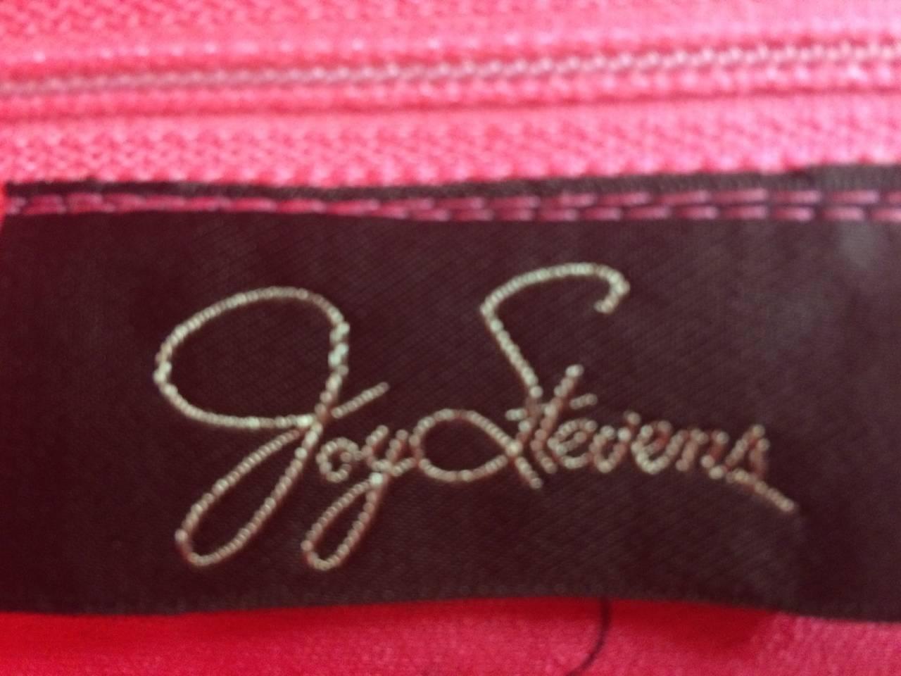 1970s Joy Stevens Coral Pink Maxi Dress For Sale 2