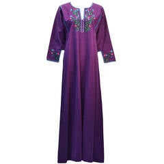 1970s Josefa Purple Caftan