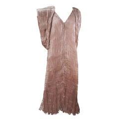 1980s Patricia Lester Pink Champagne Silk Ensemble