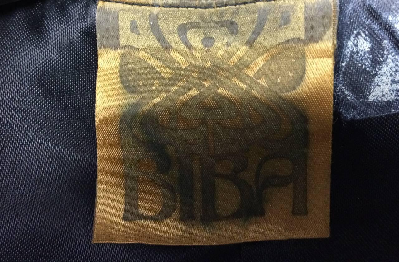Women's Biba Metallic Striped Vest, 1970s  For Sale