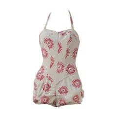 1950s Rose Marie Reid Bloomer Swimsuit