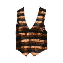 1970s Biba Metallic Striped Vest