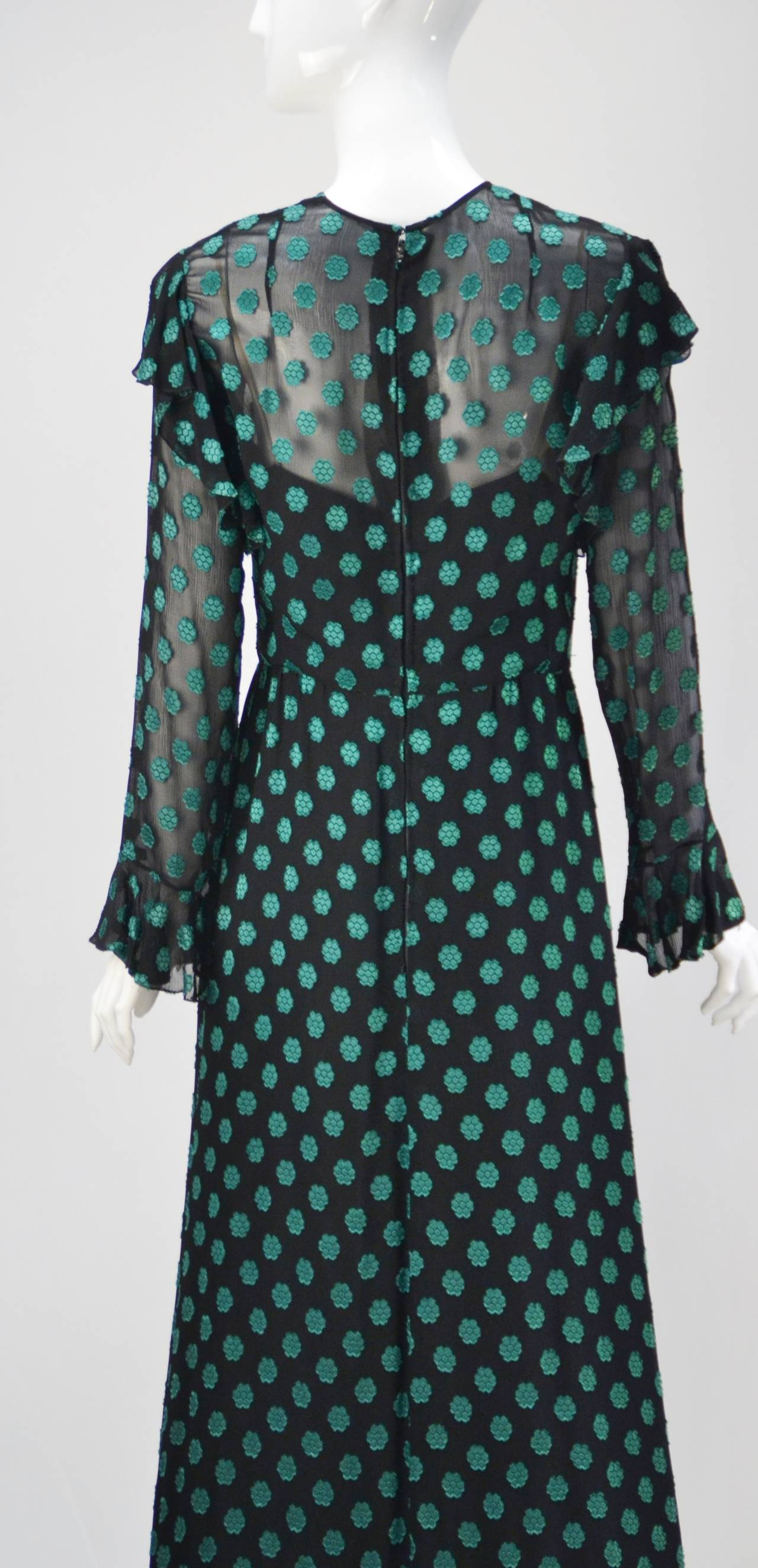 Women's or Men's 1980s Christian Dior Green Dress For Sale