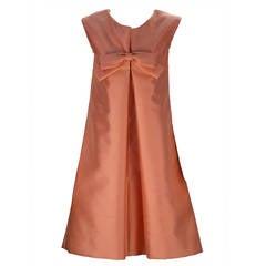 1960s Maisonette Bow Front A-Line Dress