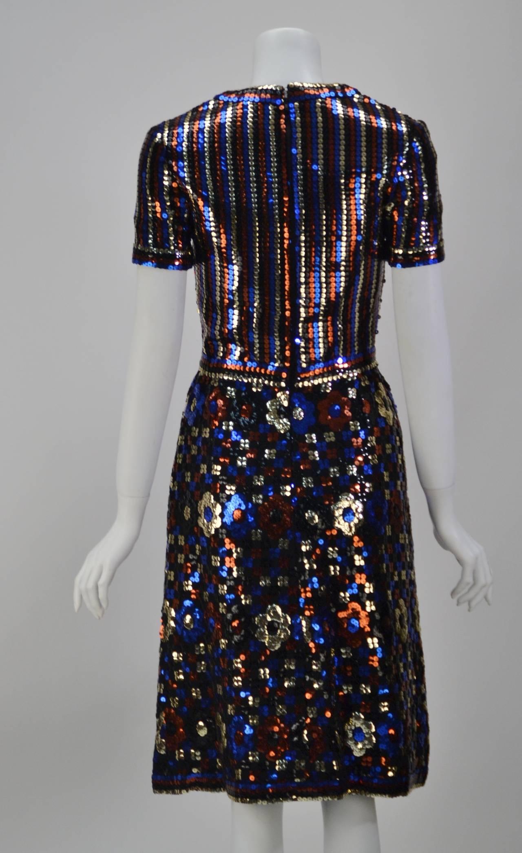 1960s Trevise Sequin Dress 3