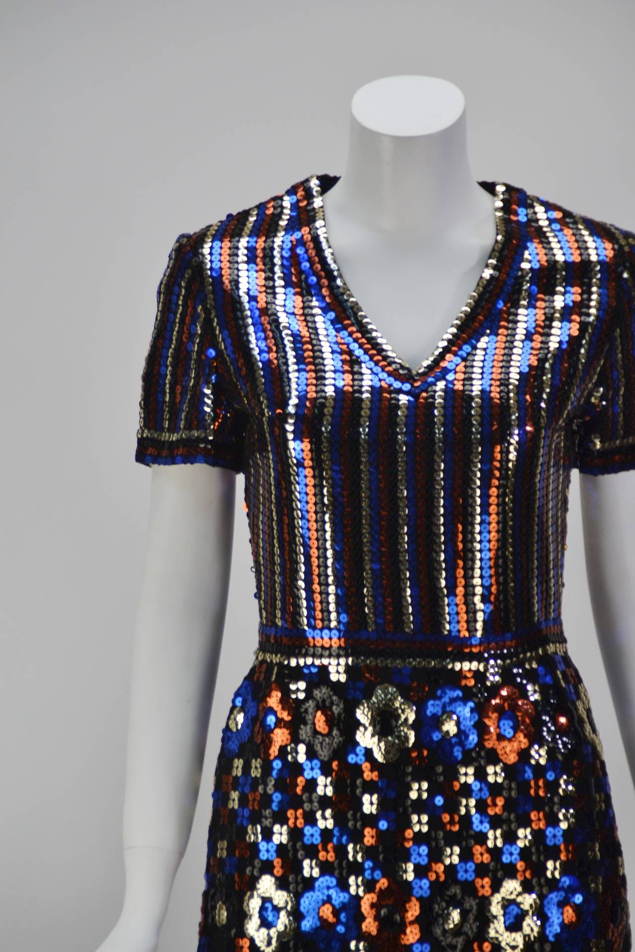 Women's 1960s Trevise Sequin Dress For Sale