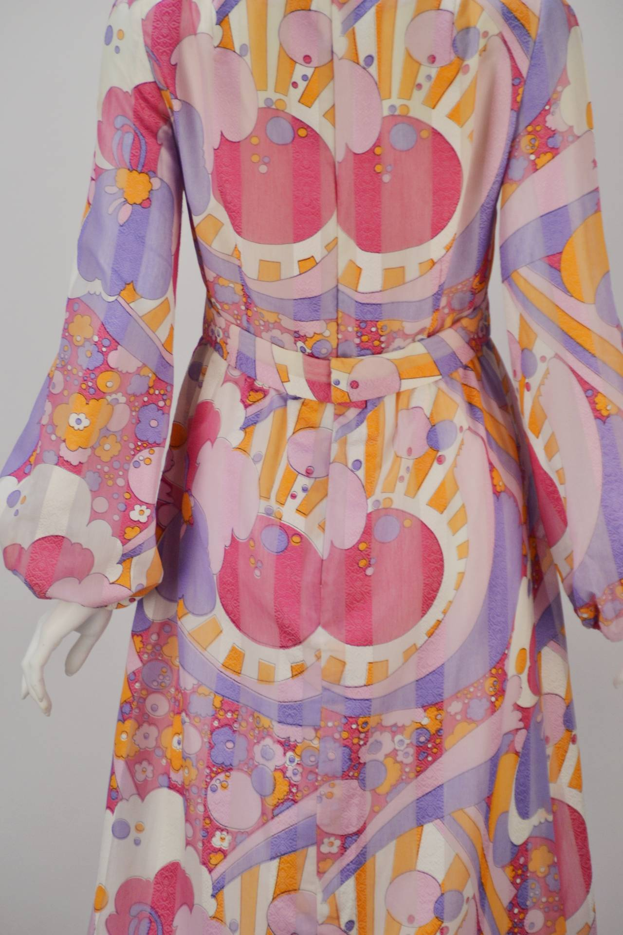 1960s Rodrigues Vibrant Multi Color Print Dress For Sale 1