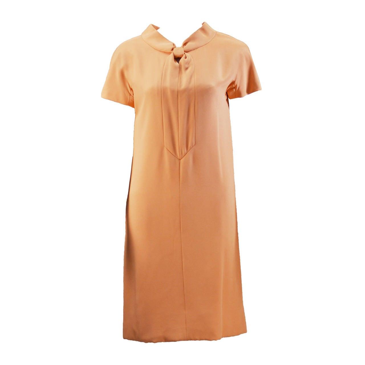 1960s Mollie Parnis Summer Silk Shift Dress