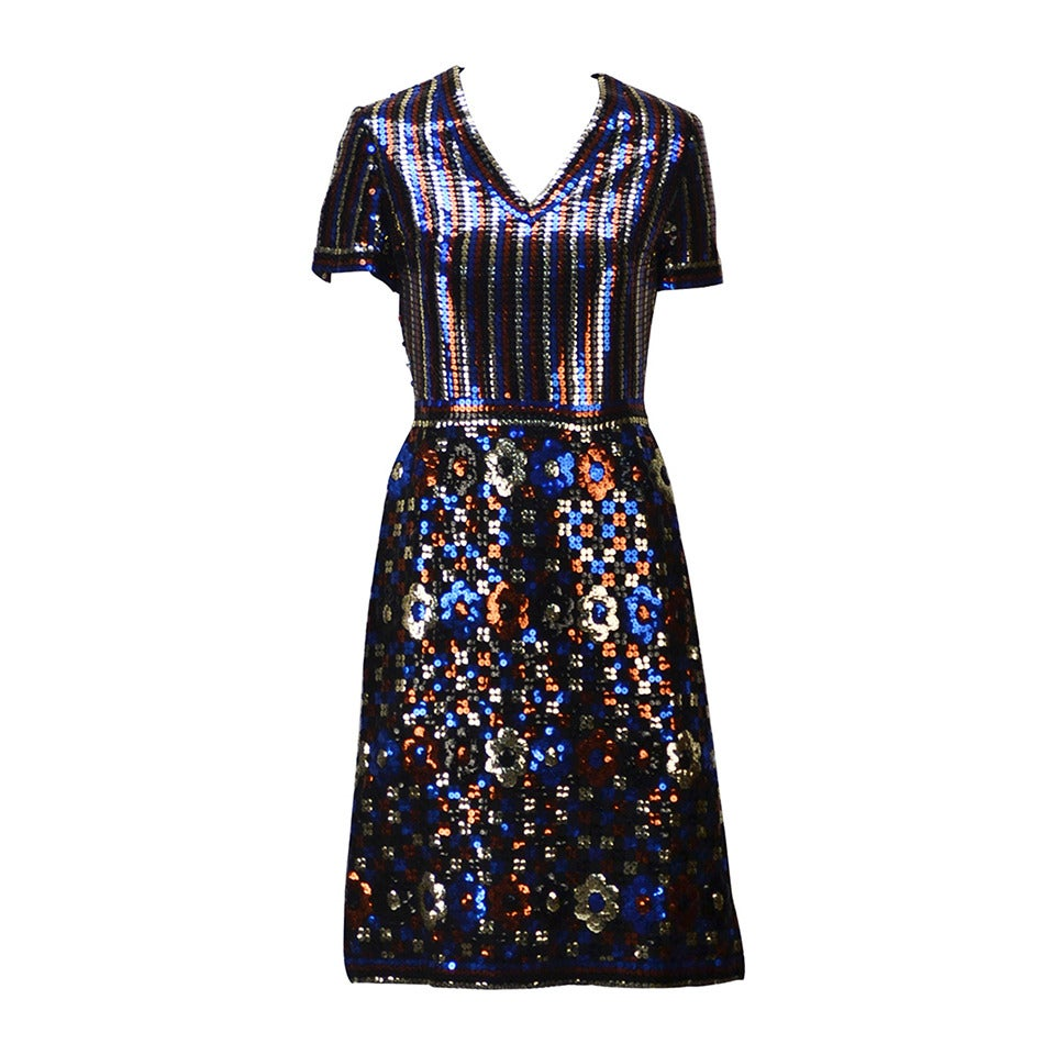 1960s Trevise Sequin Dress For Sale At 1stdibs