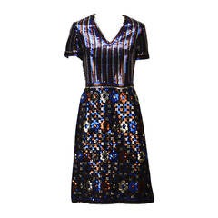 1960s Trevise Sequin Dress
