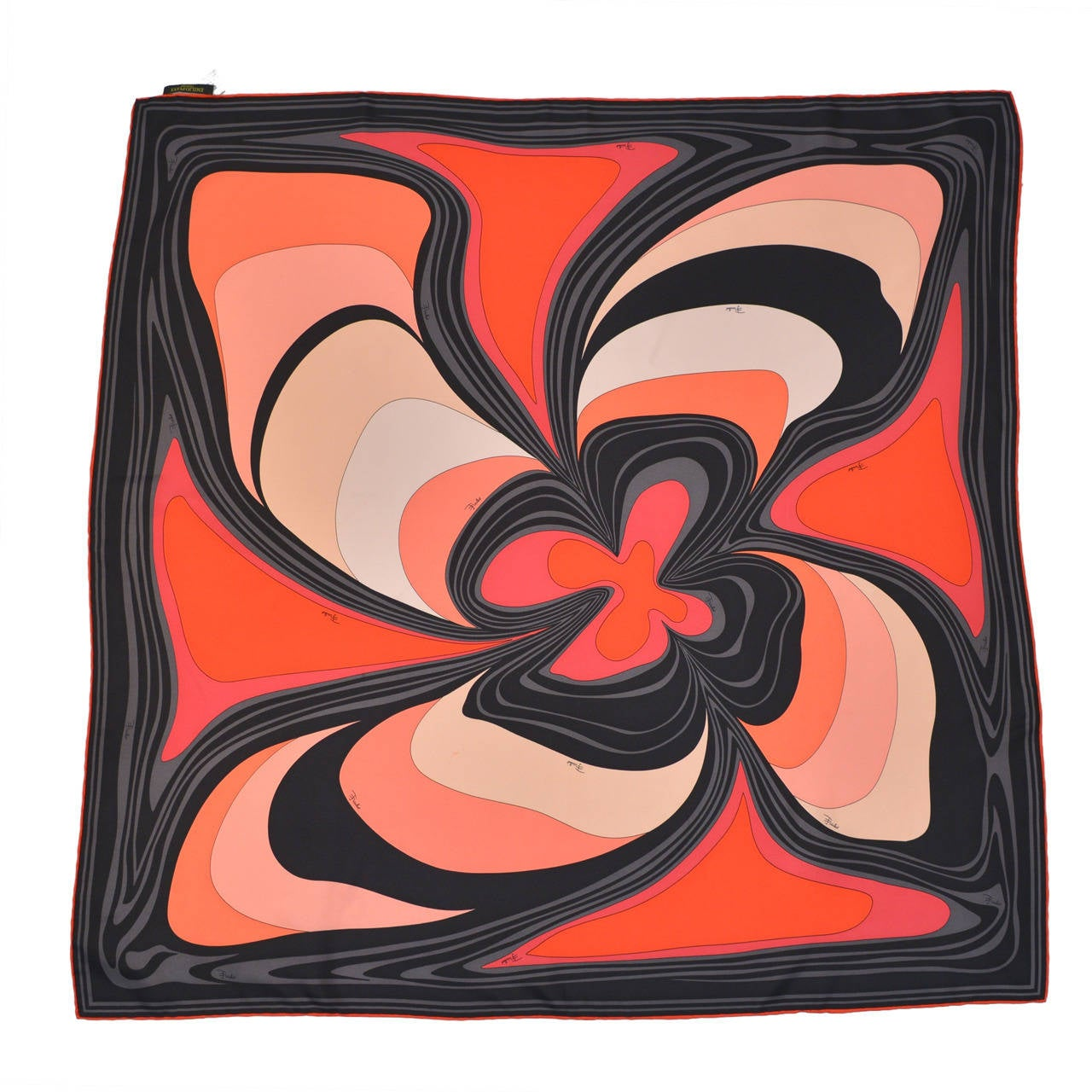 Highly Sought After 1960's Pucci Psychedelic Print Scarf