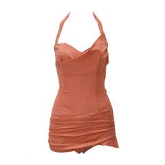 1950s Cole of California Coral Swimsuit
