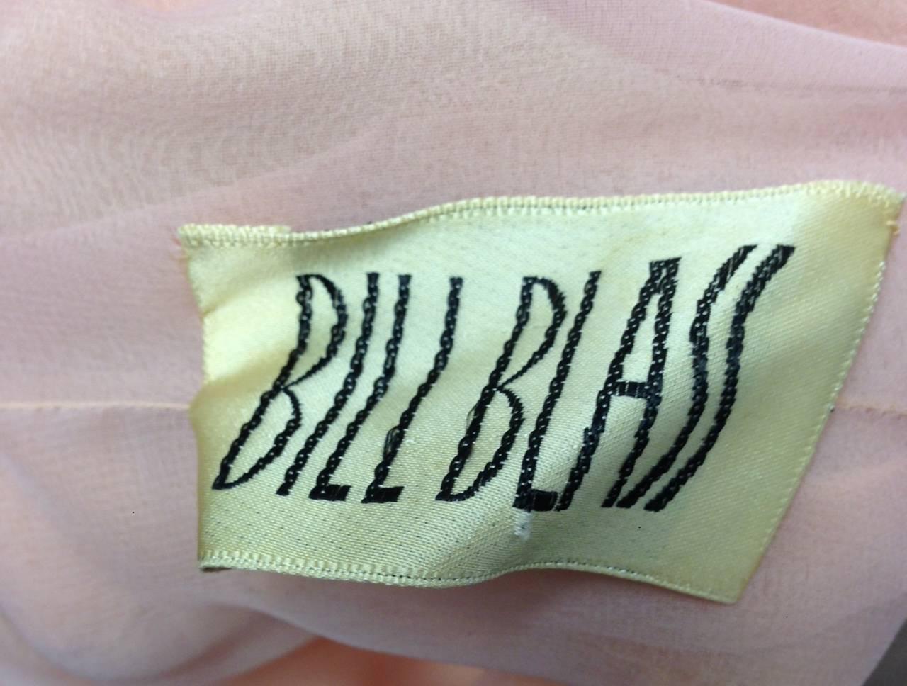 1970s Bill Blass Two Piece Silk Evening Ensemble For Sale 3