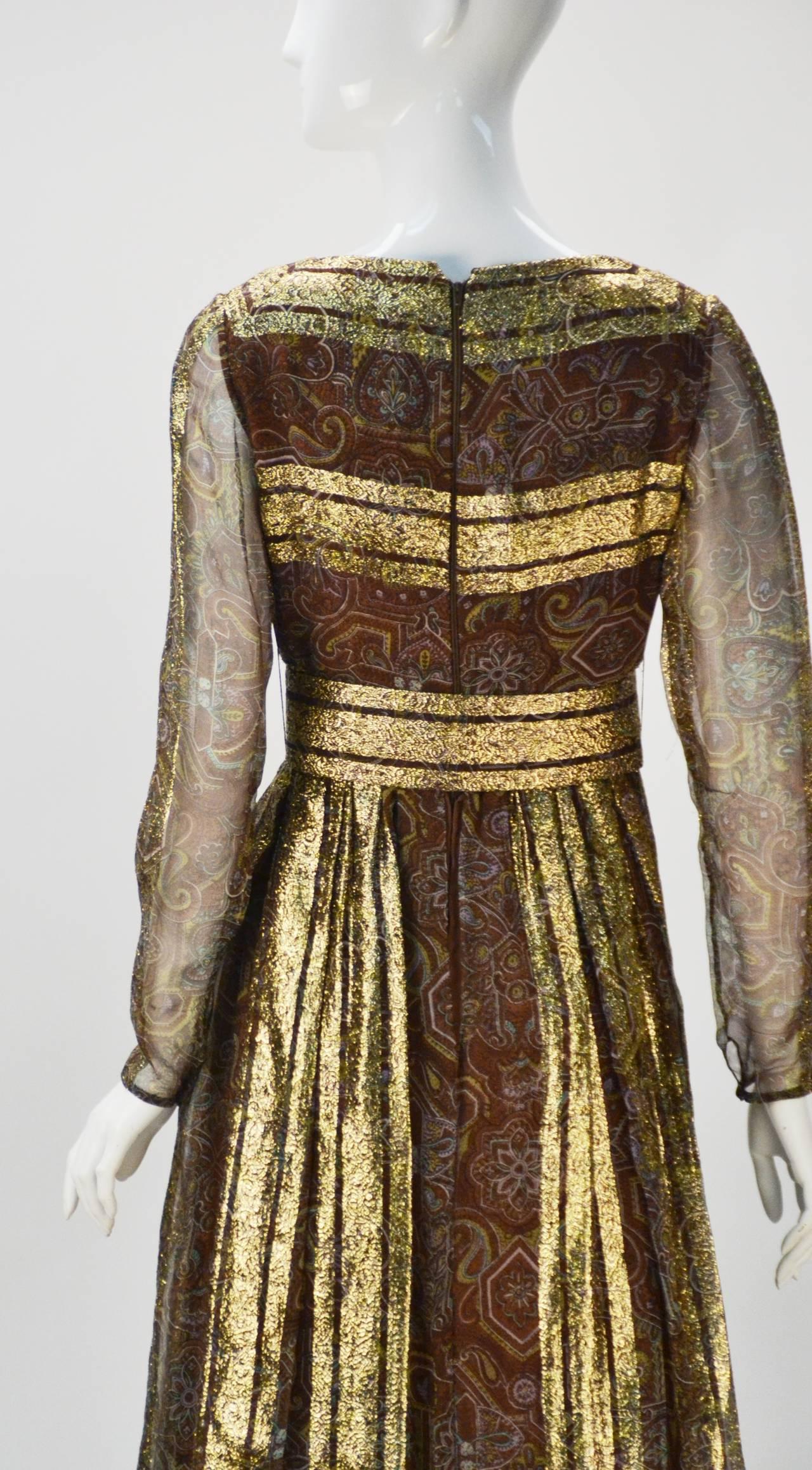Late 60 S Marc Bohan For Christian Dior Metallic Gold