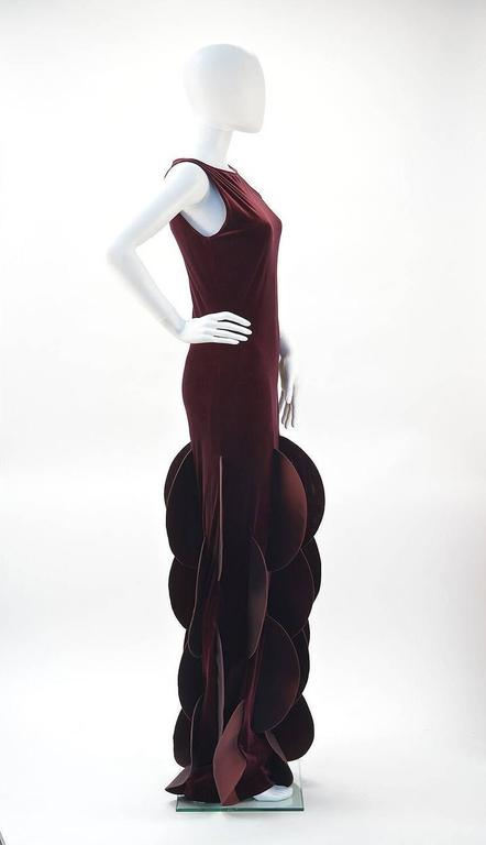 """This """"Evolution de Pierre Cardin"""" dress was created after the fall of the Berlin wall and Cardin employed experts from formerly communist countries to produce his garments... as part of his own evolution and the world's, as"""