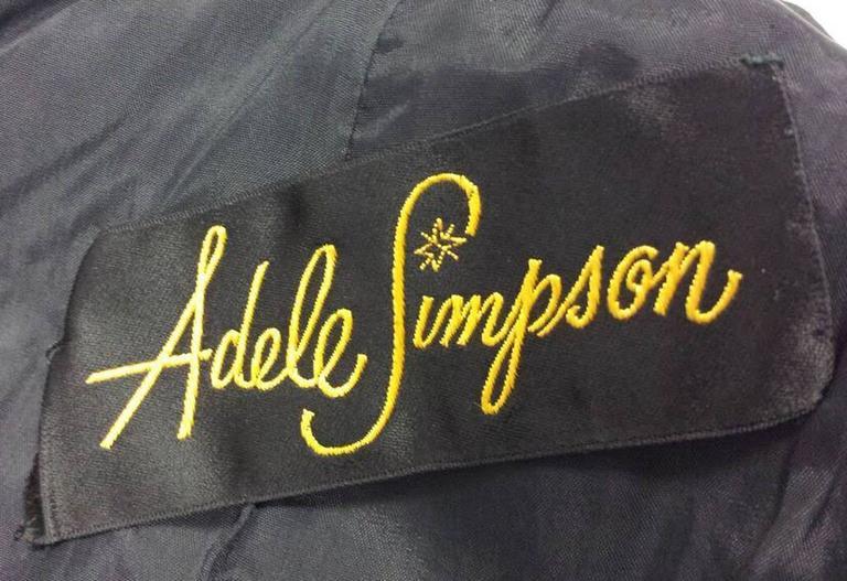 1960s Adele Simpson Black Crepe Fringe Dress For Sale 1
