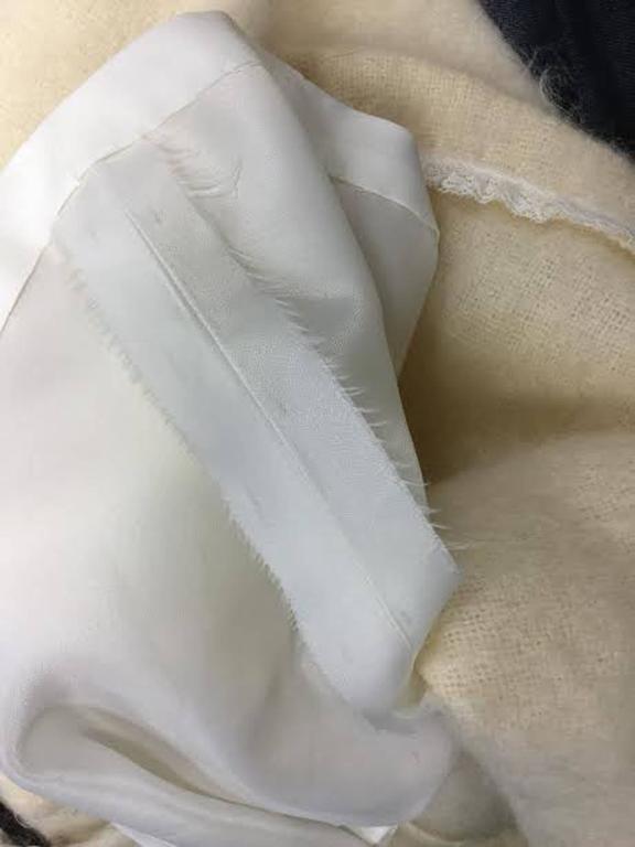 1990s Custom Winter White Mohair Dress For Sale 1
