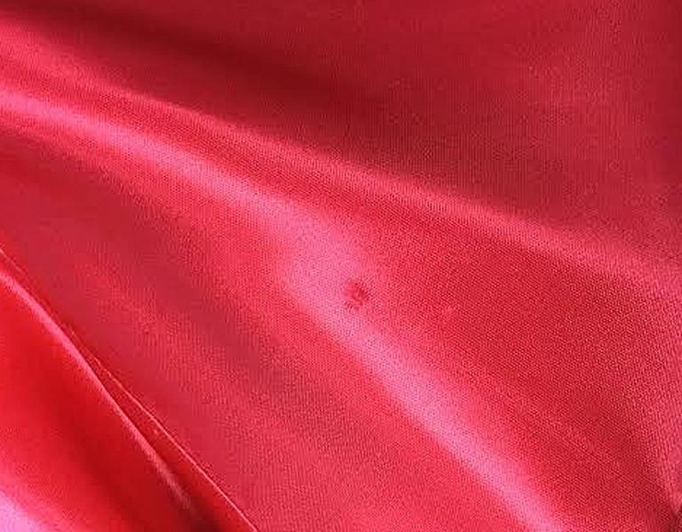 1960s Betty Carol Mam'Selle Red Floral Velvet Dress For Sale 2
