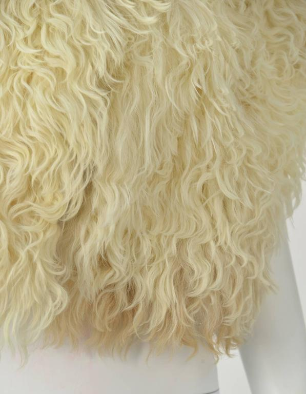 Courreges Paris Natural Ombre Karakul Bolero In Excellent Condition For Sale In Houston, TX