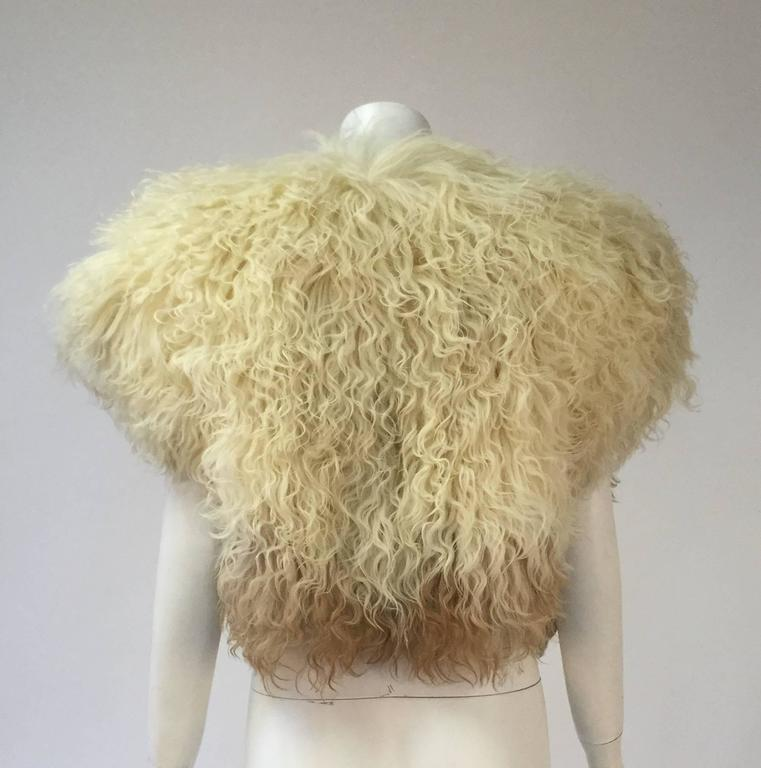 Beige  Courreges Paris Natural Ombre Karakul Bolero For Sale