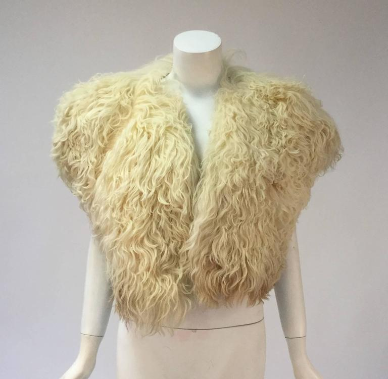 Courreges Paris Natural Ombre Karakul Bolero For Sale 2