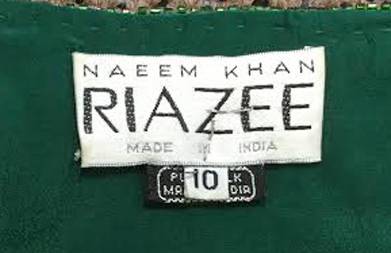 1980s Naeem Khan Green Pure Silk Sequined Jacket 6