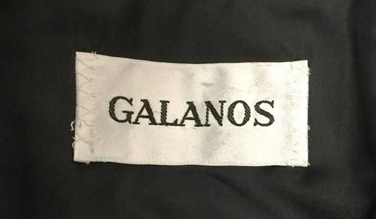 1960s Galanos Black Wool Paisley Beaded Jacket 7