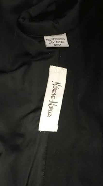 1960s Galanos Black Wool Paisley Beaded Jacket 6