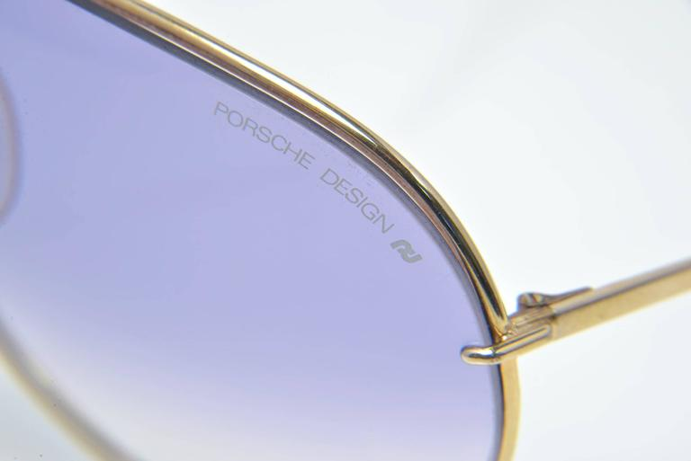 New 1980s Porsche Design by Carrera Gold frame Sunglasses 3