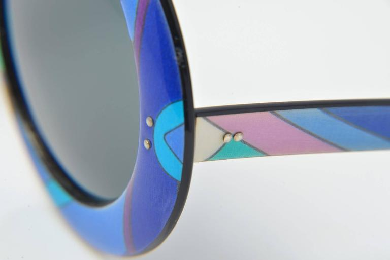 1960s Emilio Pucci Multicolored Mod Round Sunglasses 2
