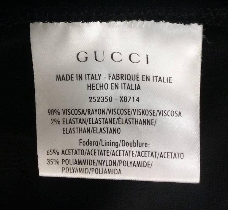 2011 Gucci Asymmetrical Open Back Black Knit Dress For Sale 3