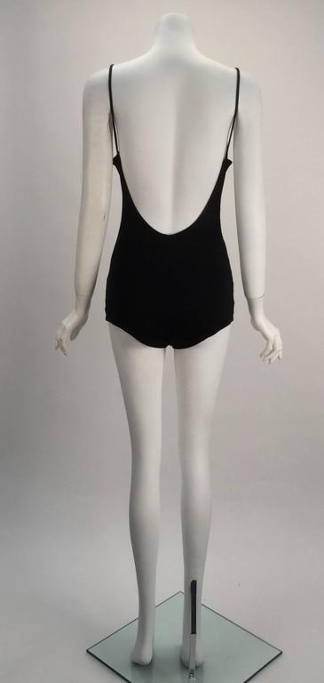 Women's Mod Herma Black Bathing Suit, 1960s  For Sale