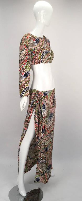 1960s Christian Dior Couture Beach Short And Dress Set At
