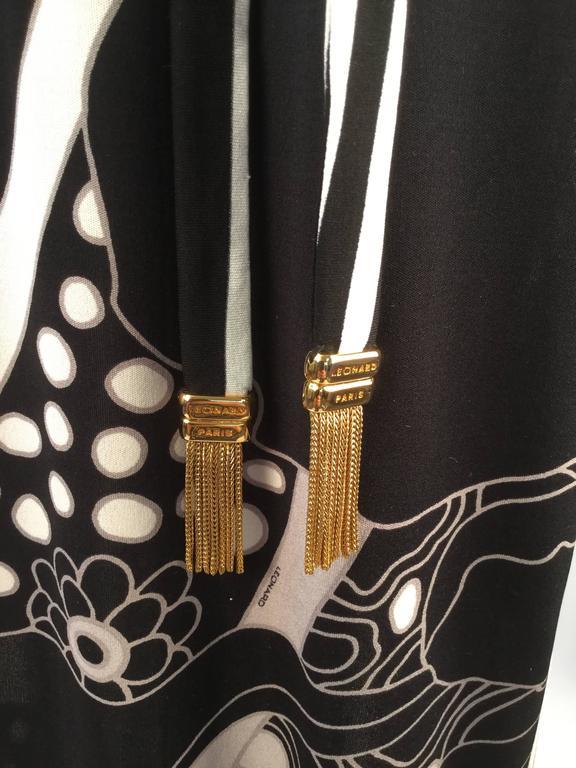Leonard Paris Silk Knit Spaghetti Strap Column Gown with Cocoon Shrug, 1960s  For Sale 1