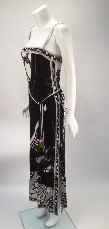 Leonard Paris Silk Knit Spaghetti Strap Column Gown with Cocoon Shrug, 1960s  In Excellent Condition For Sale In Houston, TX