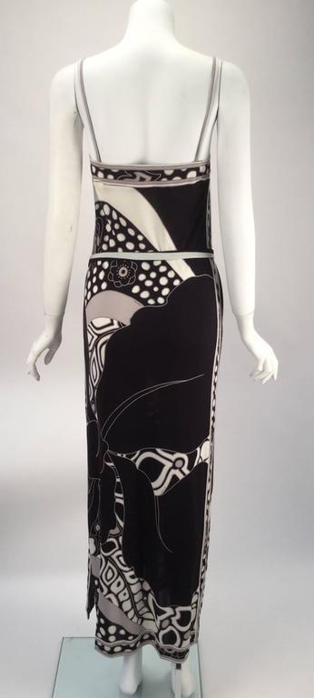 1960s Leonard Paris Silk Knit Spaghetti Strap Column Gown with Cocoon Shrug 5