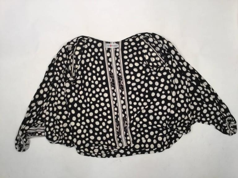 1960s Leonard Paris Silk Knit Spaghetti Strap Column Gown with Cocoon Shrug 10