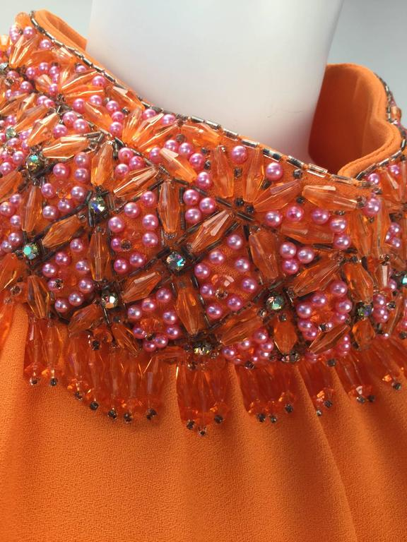 Gino Charles by Malcolm Starr Silk Orange Tunic, 1960s  For Sale 1