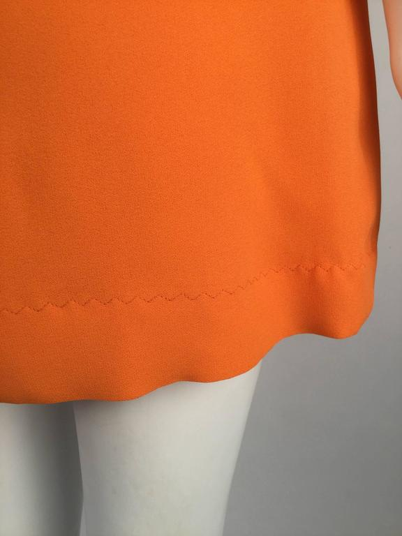 Gino Charles by Malcolm Starr Silk Orange Tunic, 1960s  For Sale 2
