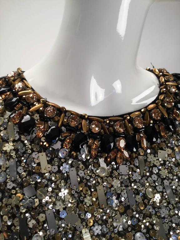 Women's Oscar de la Renta Sequined Constellation Evening Gown For Sale