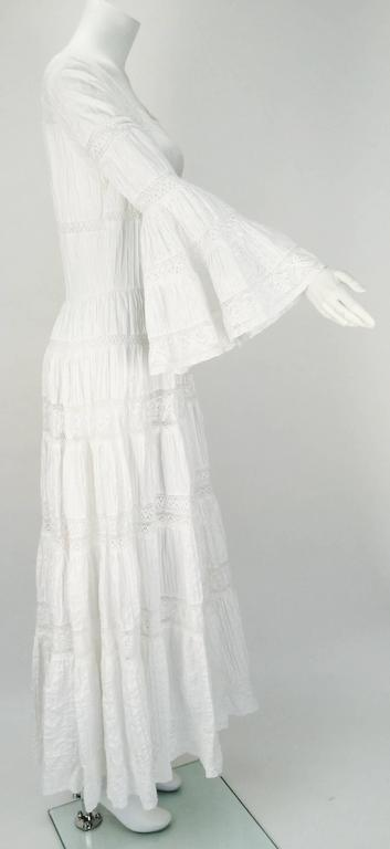 1970s Made in Mexico for Fred Leighton White Summer Dress 2