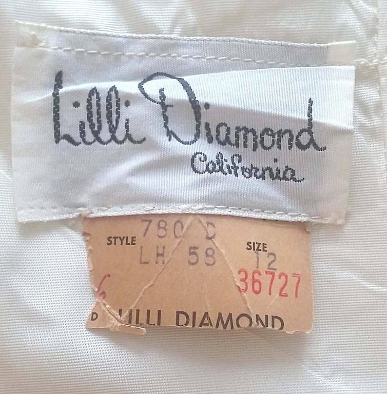 1970s Lilli Diamond Iridescent Sleeveless Cocktail Dress  For Sale 1