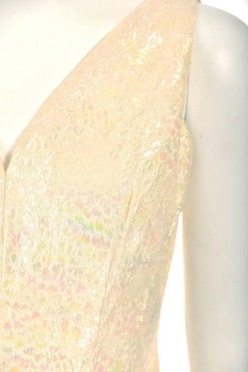 Women's 1970s Lilli Diamond Iridescent Sleeveless Cocktail Dress  For Sale