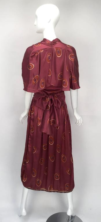 Gorgeous 1970s Marina Ferrari Silk Multicolored Circle Print Wrap Dress  3
