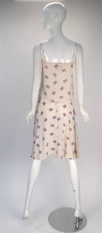 1980s Diane Von Furstenberg Silk Two Piece Tank Top and Skirt Ensemble  3