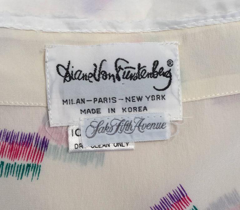 1980s Diane Von Furstenberg Silk Two Piece Tank Top and Skirt Ensemble  5